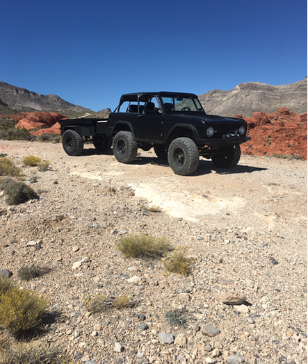 95 ford bronco 427w stroker efi  by coast preformance  custom build e4od  with tcs converter  solo motorsport stage 4 long travel kit, king coilover  dual